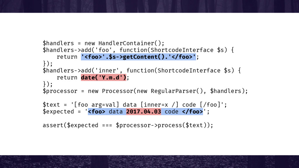 $handlers = new HandlerContainer(); $handlers->...