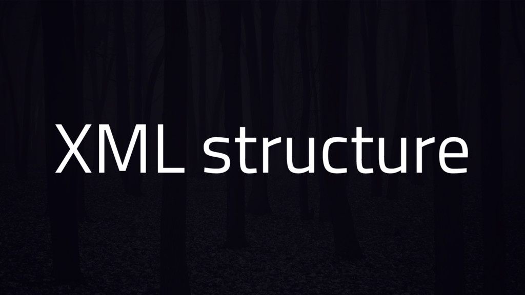 XML structure