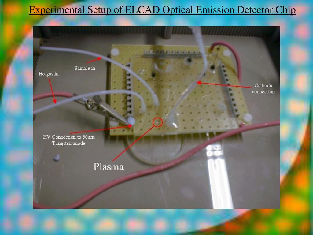 Experimental Setup of ELCAD Optical Emission De...