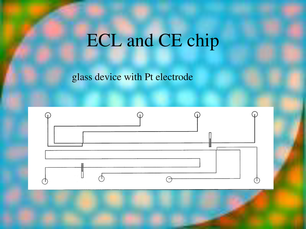 ECL and CE chip glass device with Pt electrode