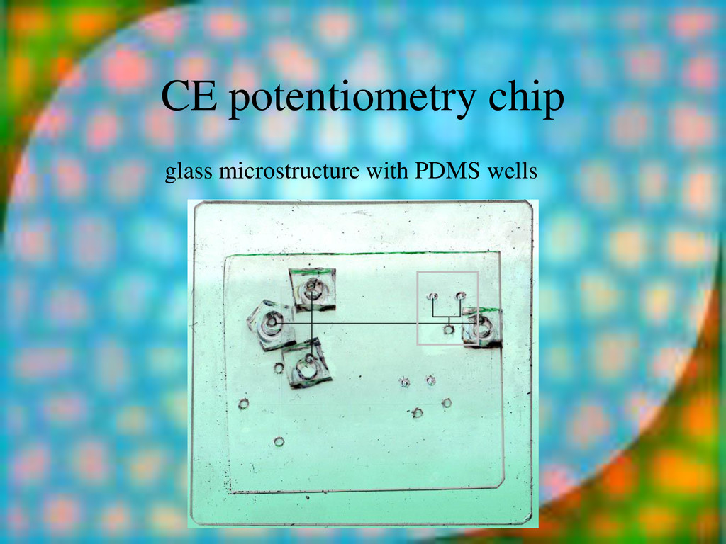 CE potentiometry chip glass microstructure with...