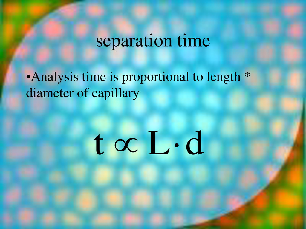 separation time •Analysis time is proportional ...