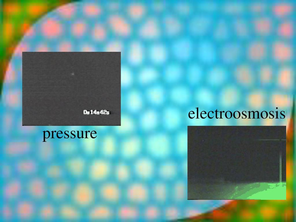 pressure electroosmosis