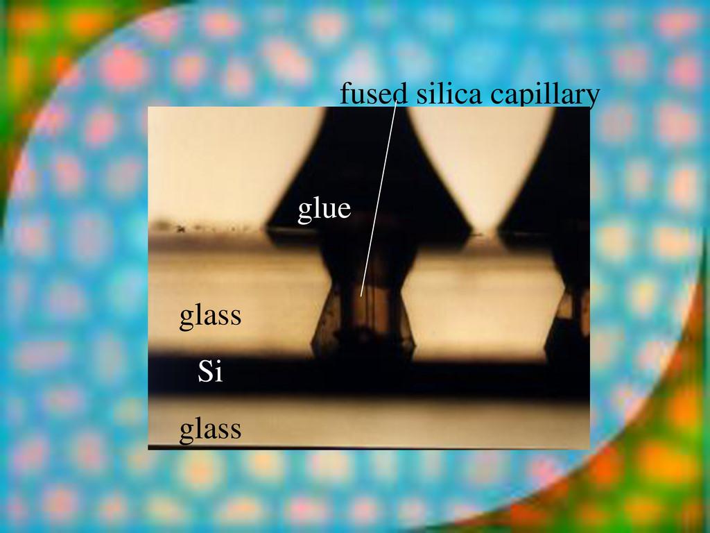 fused silica capillary glue glass Si glass