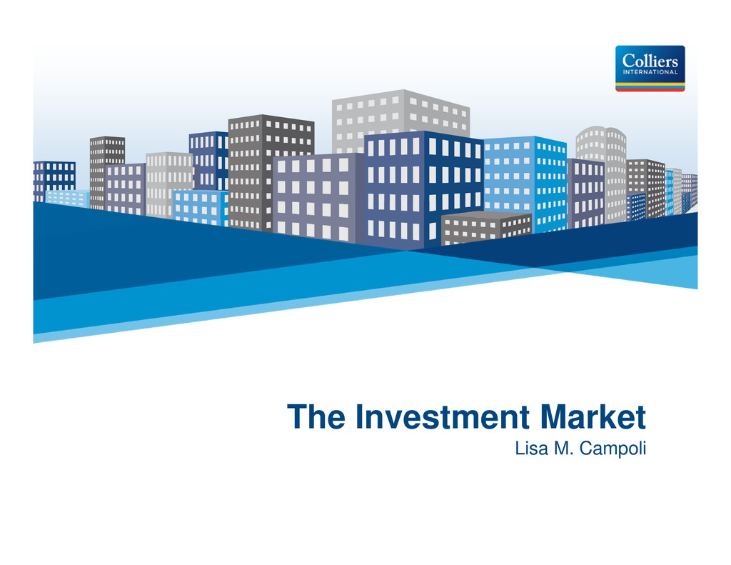 Click to edit Master title style The Investment...