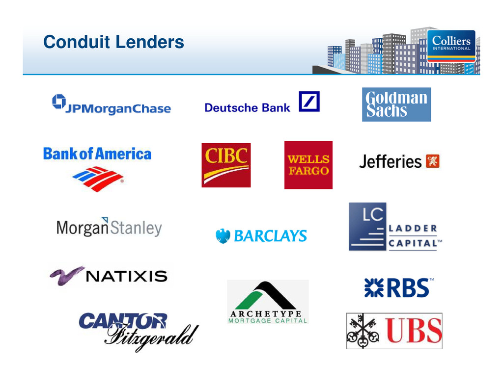 Click to edit Master title style Conduit Lenders