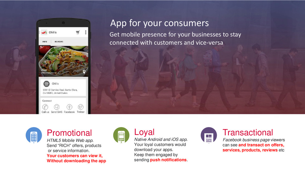 App for your consumers Get mobile presence for ...