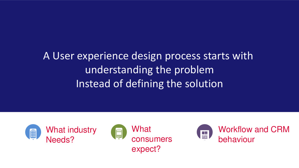 A User experience design process starts with un...