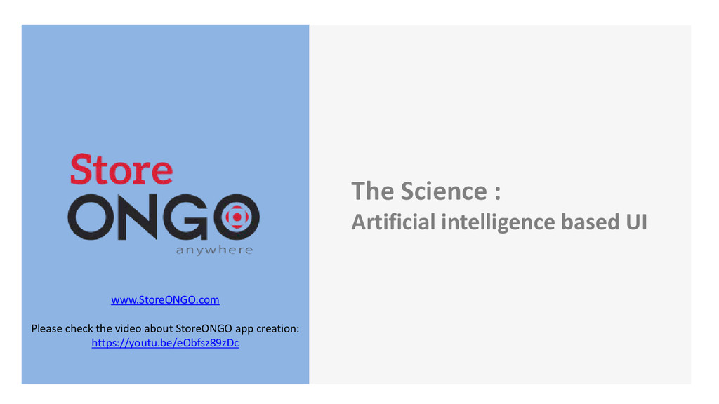 The Science : Artificial intelligence based UI ...
