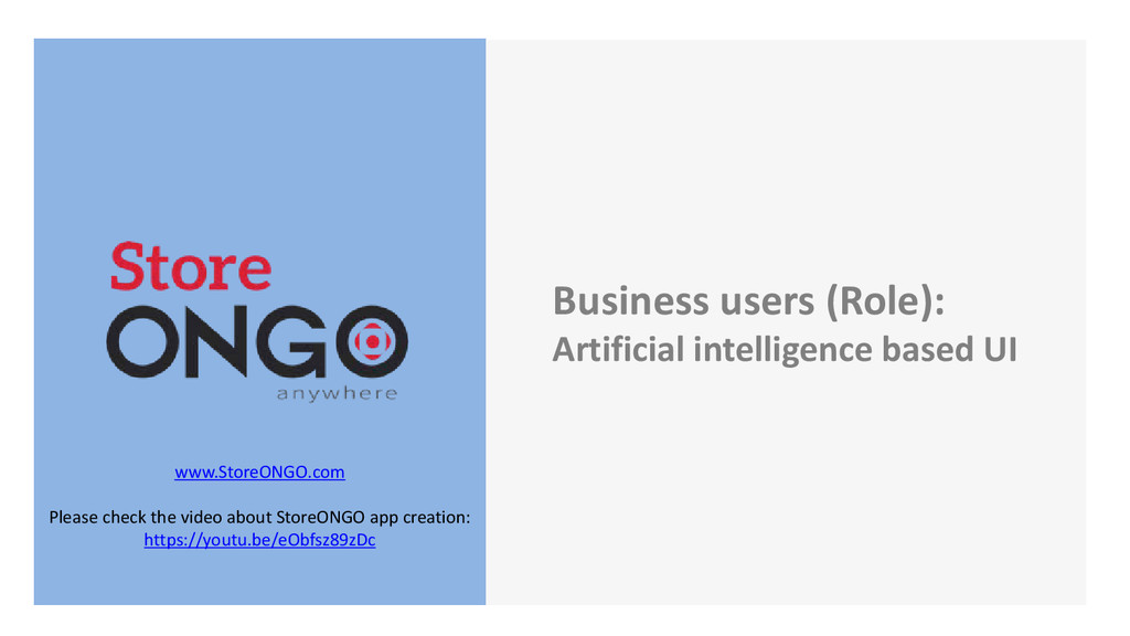Business users (Role): Artificial intelligence ...