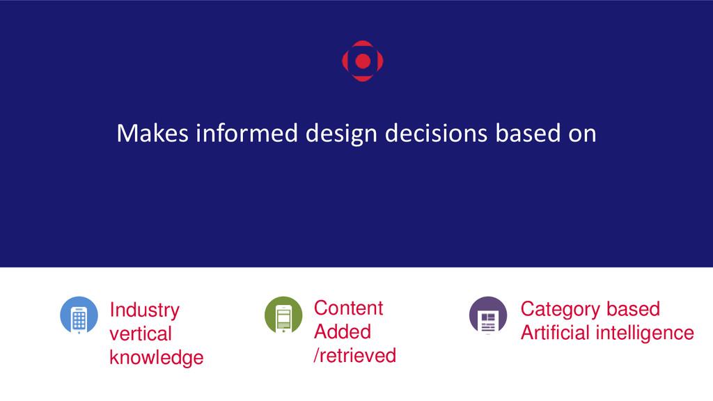 Makes informed design decisions based on Indust...