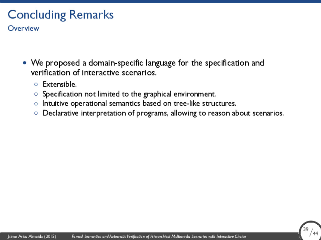 Concluding Remarks Overview • We proposed a dom...