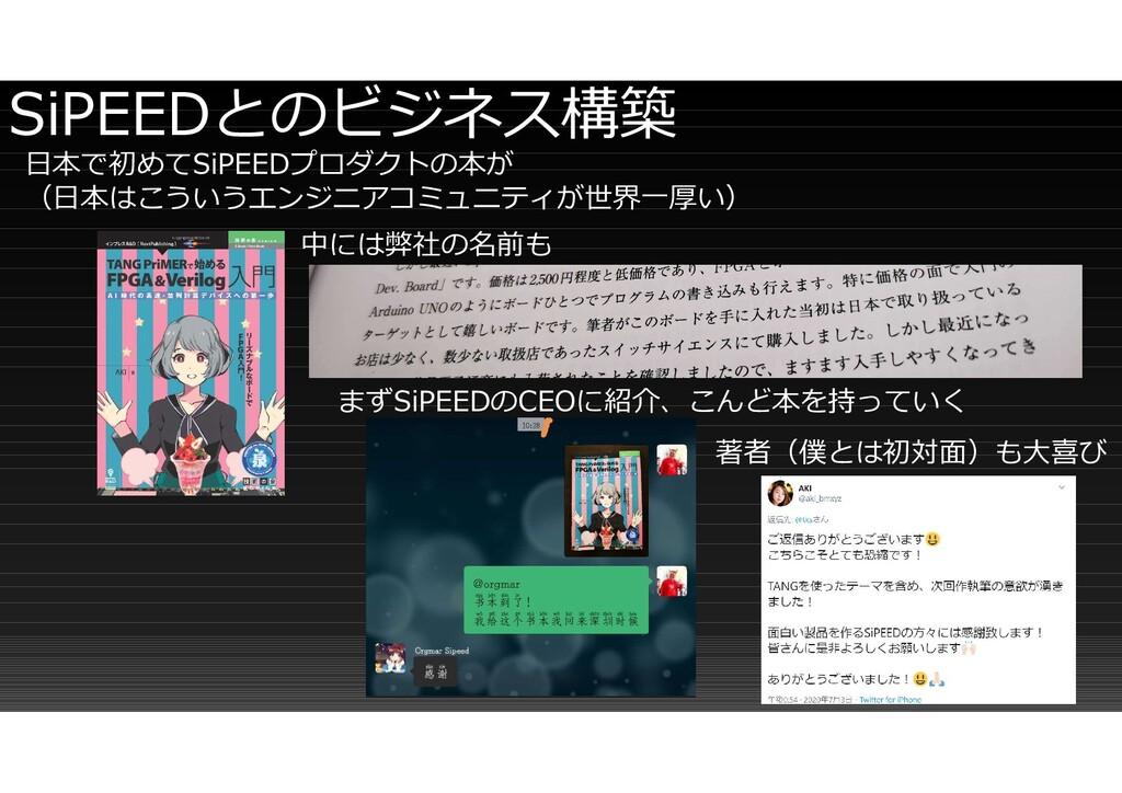 SiPEEDとのビジネス構築 日本で初めてSiPEEDプロダクトの本が (日本はこういうエンジ...