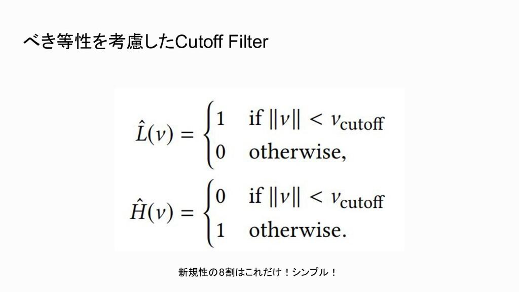 べき等性を考慮したCutoff Filter 新規性の8割はこれだけ!シンプル!