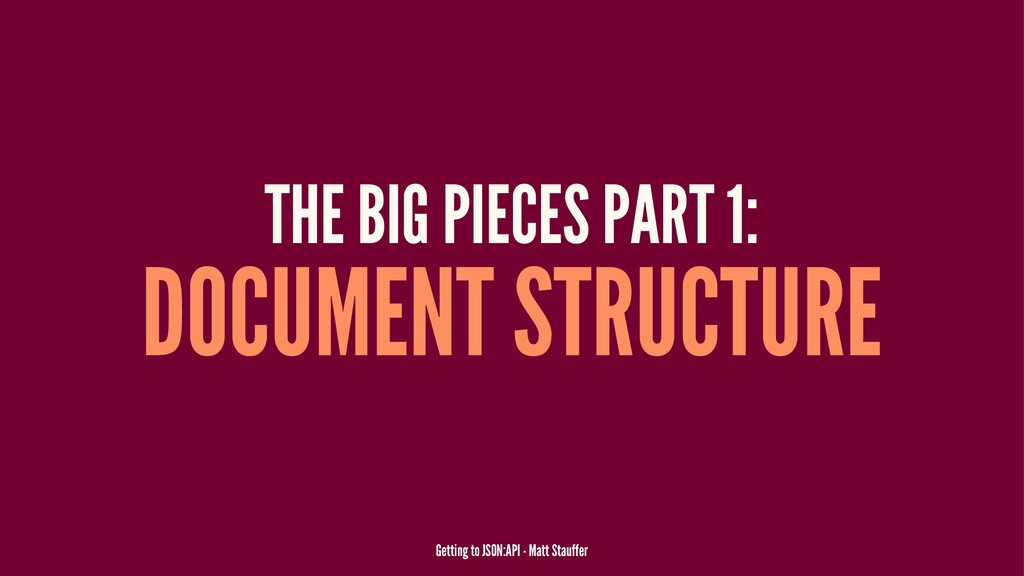 THE BIG PIECES PART 1: DOCUMENT STRUCTURE Getti...