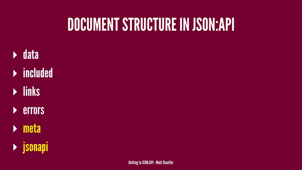 DOCUMENT STRUCTURE IN JSON:API ▸ data ▸ include...