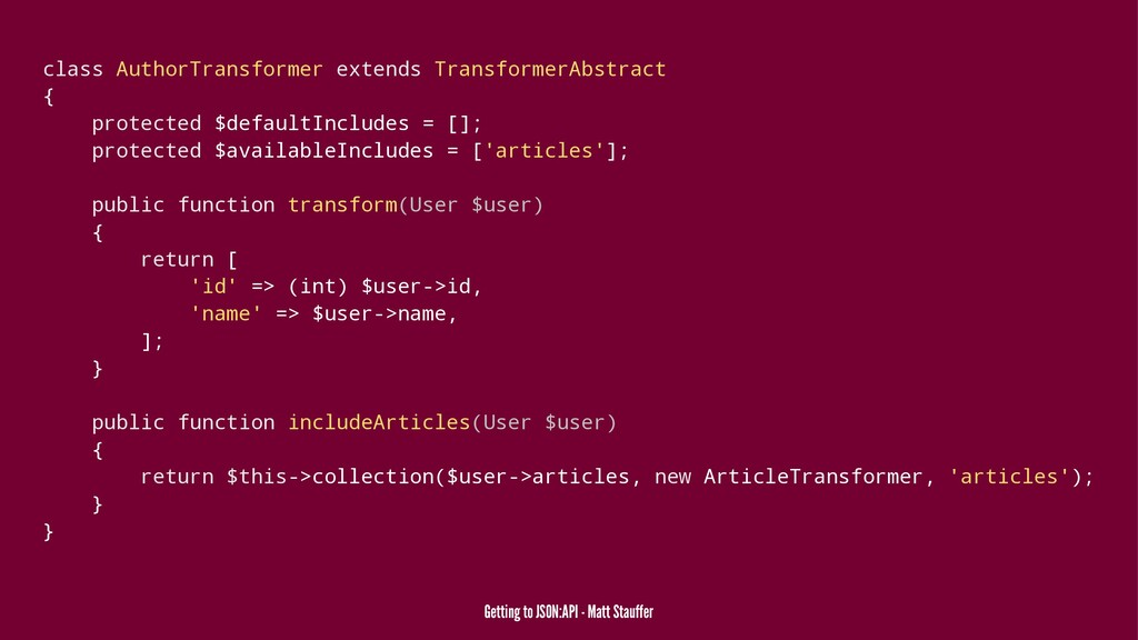 class AuthorTransformer extends TransformerAbst...