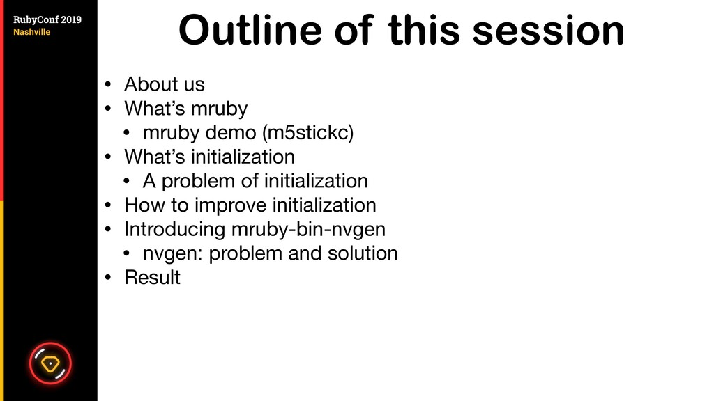 Outline of this session • About us  • What's mr...