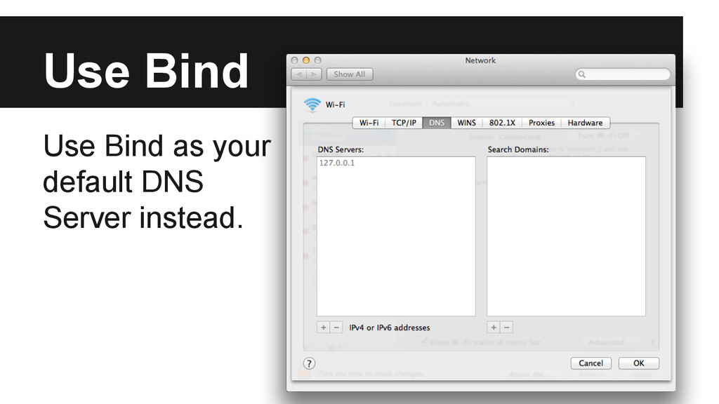 Use Bind Use Bind as your default DNS Server in...