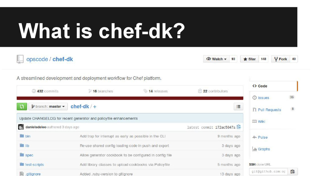 What is chef-dk?