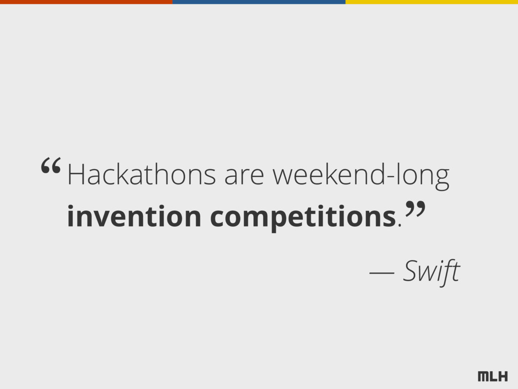 Hackathons are weekend-long invention competiti...