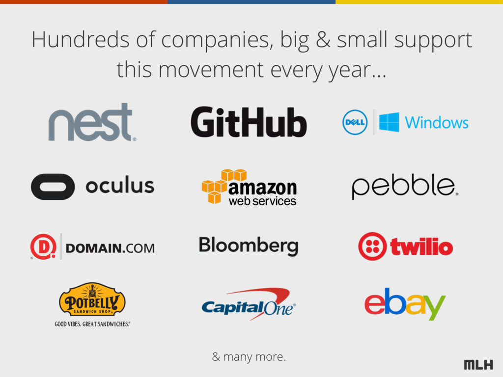 Hundreds of companies, big & small support this...