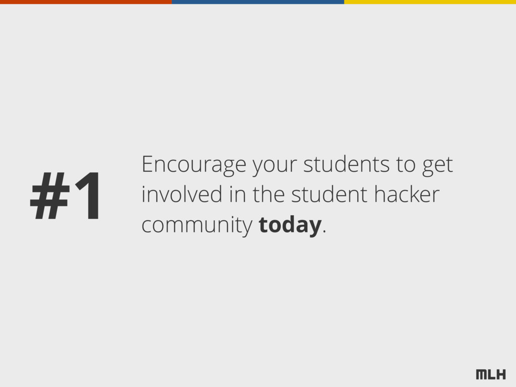 Encourage your students to get involved in the ...