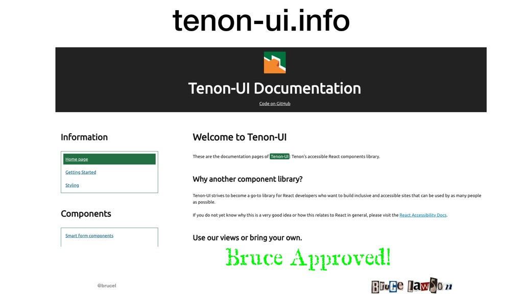 @brucel tenon-ui.info Bruce Approved!