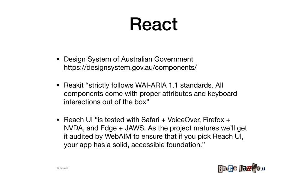 @brucel React • Design System of Australian Gov...