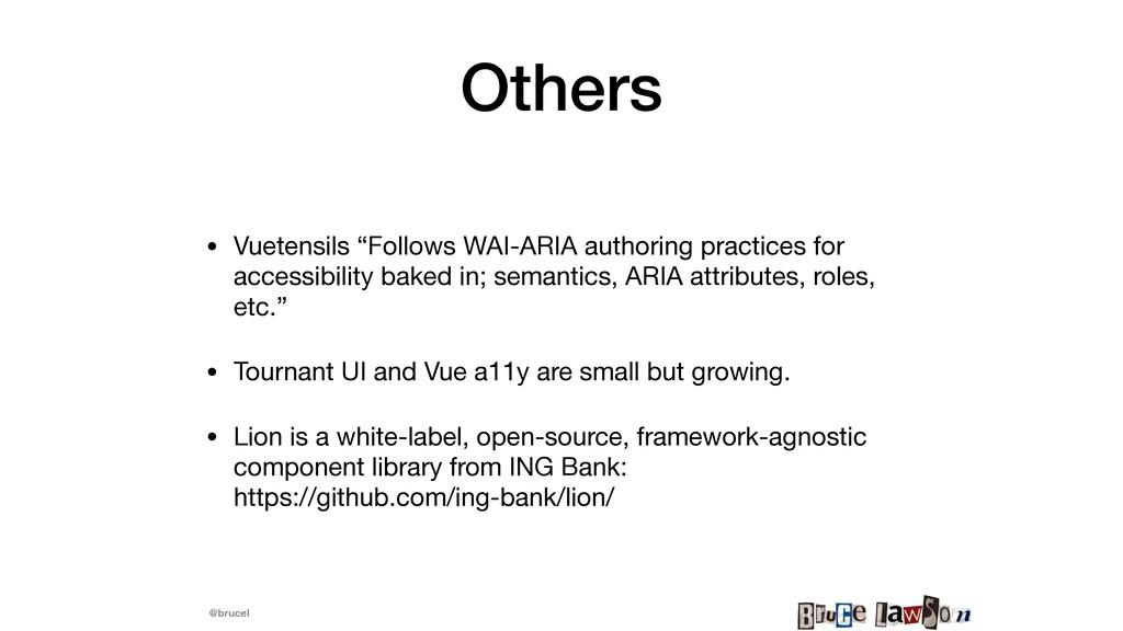 """@brucel Others • Vuetensils """"Follows WAI-ARIA a..."""