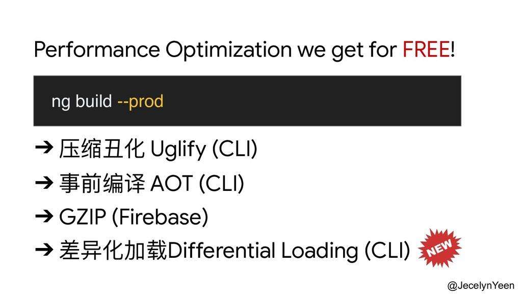 @JecelynYeen ➔ 压缩丑化 Uglify (CLI)  ➔ 事前编译 AOT (C...