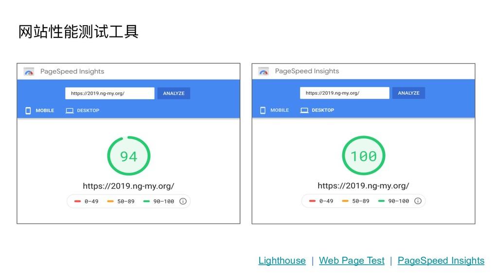 ⽹网站性能测试⼯工具 Lighthouse | Web Page Test | PageSpe...