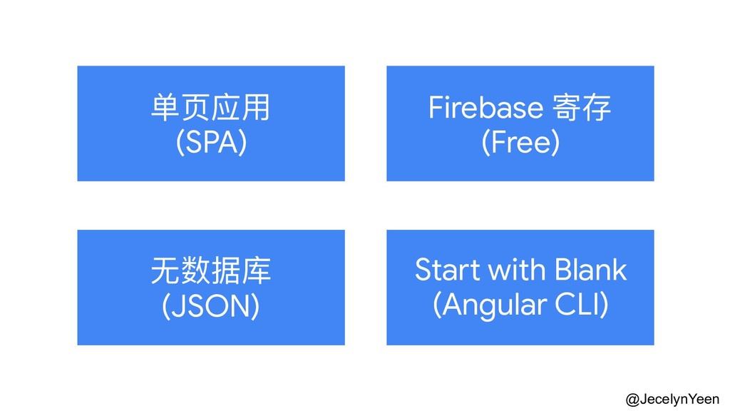 @JecelynYeen 单⻚页应⽤用  (SPA) Firebase 寄存  (Free) ...