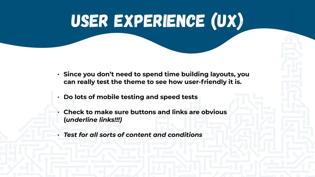 @jcasabona User Experience (UX) • Since you don...
