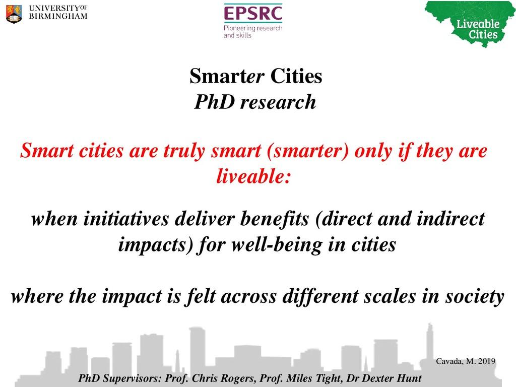 Smarter Cities PhD research when initiatives de...