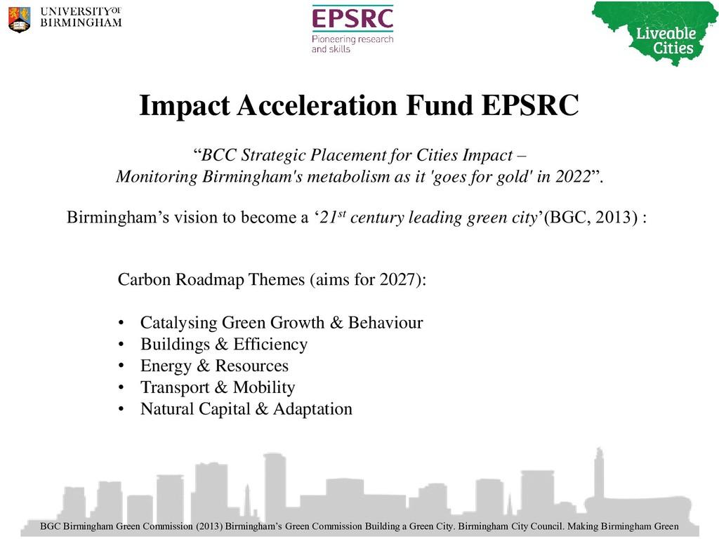 BGC Birmingham Green Commission (2013) Birmingh...