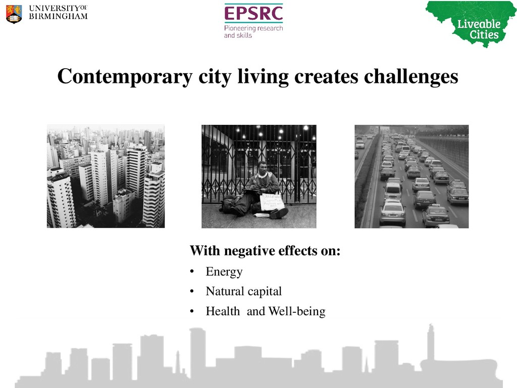 Contemporary city living creates challenges Wit...