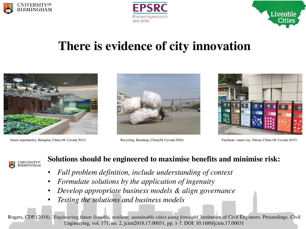 There is evidence of city innovation Solutions ...