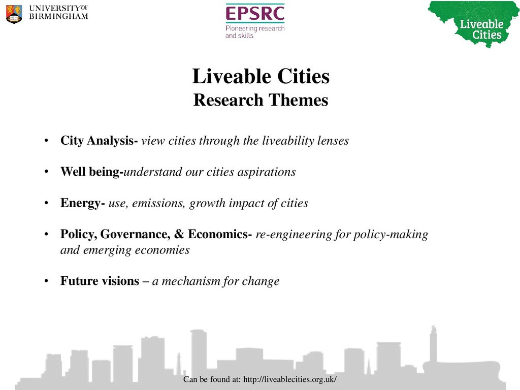 Can be found at: http://liveablecities.org.uk/ ...