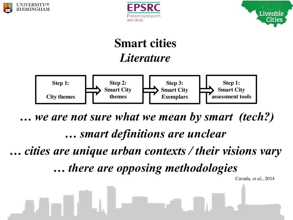 Smart cities Literature Step 1: Smart City asse...