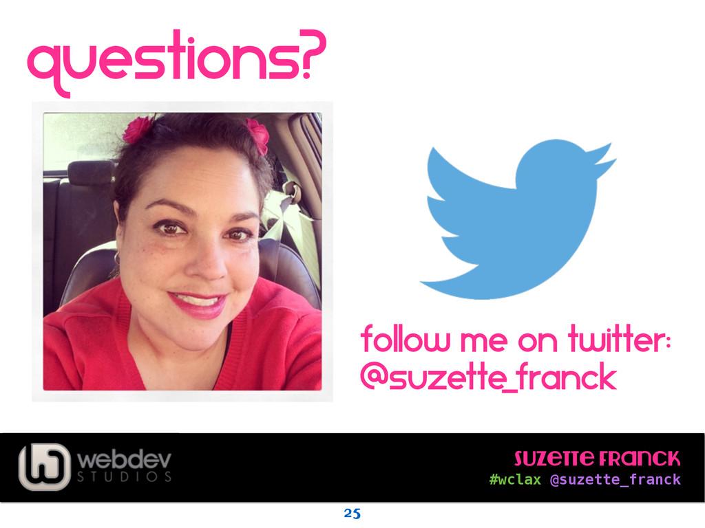 Suzette Franck #wclax @suzette_franck question...