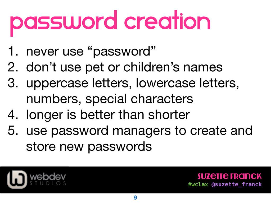 Suzette Franck #wclax @suzette_franck password...