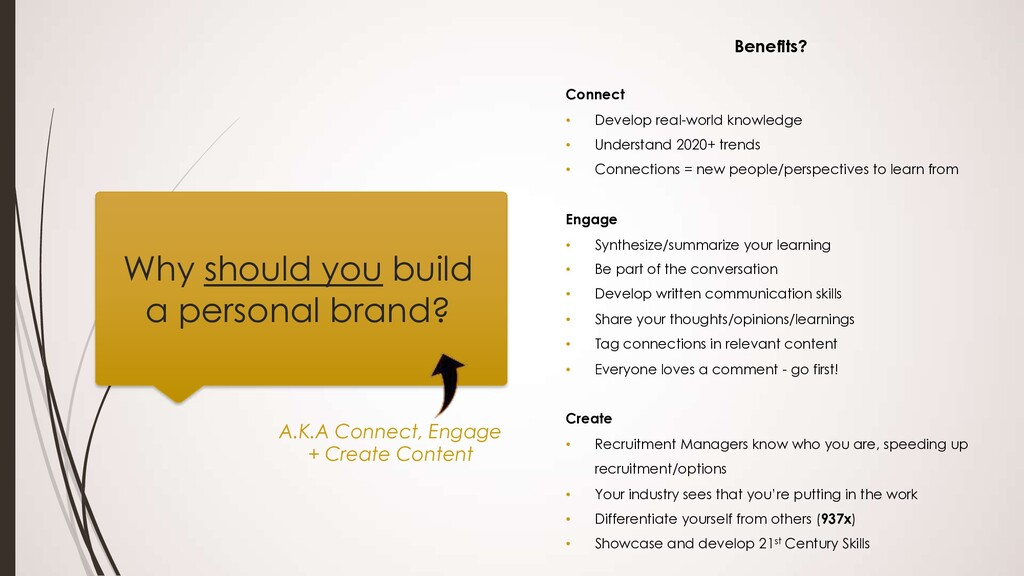 Why should you build a personal brand? Benefits...