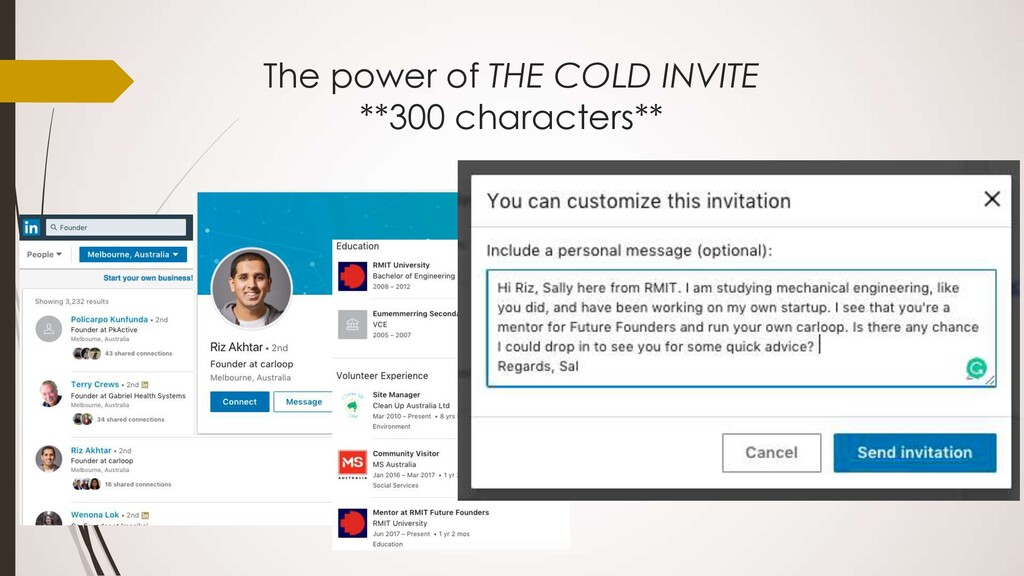 The power of THE COLD INVITE **300 characters**