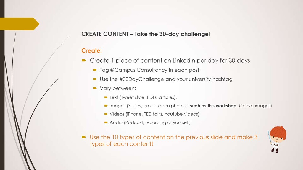 CREATE CONTENT – Take the 30-day challenge! Cre...