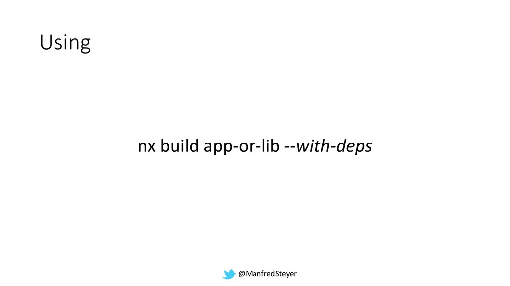 @ManfredSteyer Using nx build app-or-lib --with...