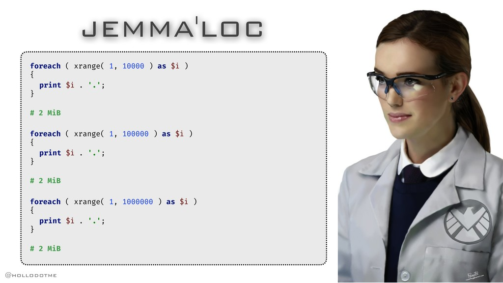 JEMMA'LOC foreach ( xrange( 1, 10000 ) as $i ) ...