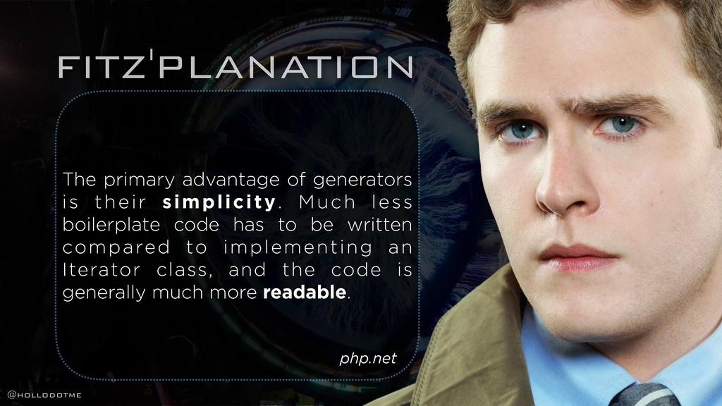 FITZ'PLANATION The primary advantage of generat...