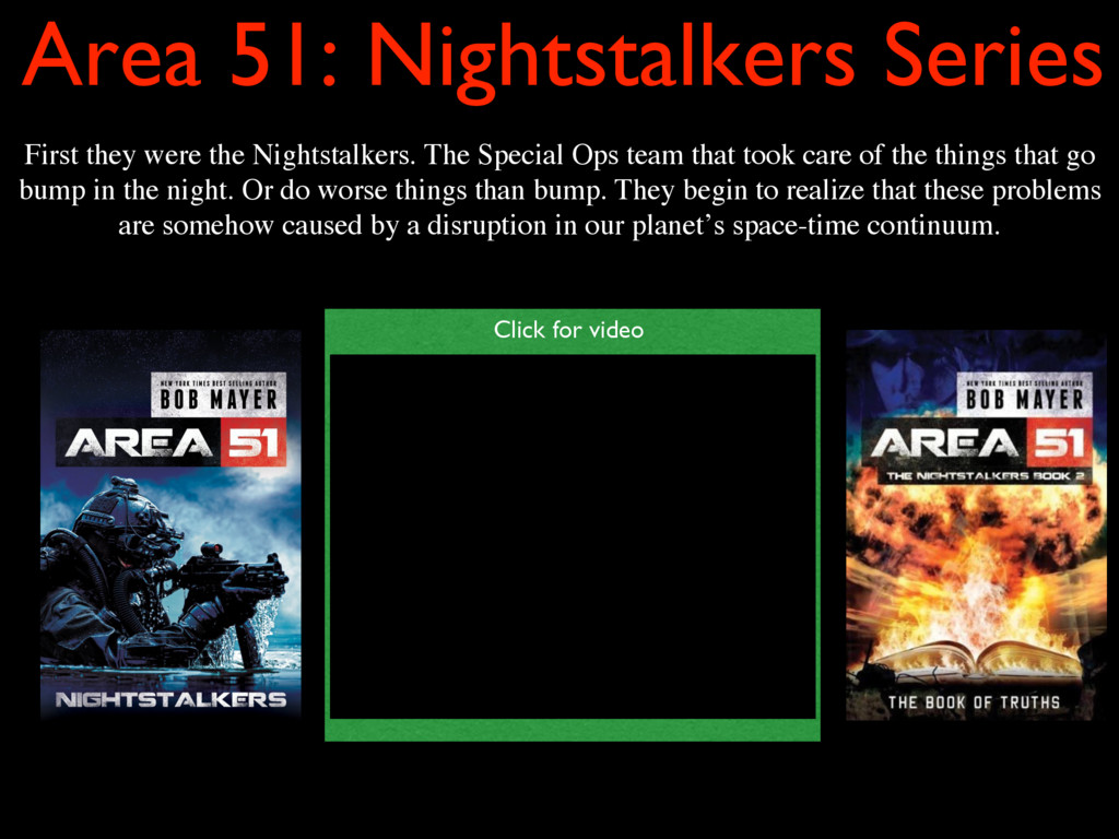 Area 51: Nightstalkers Series First they were t...