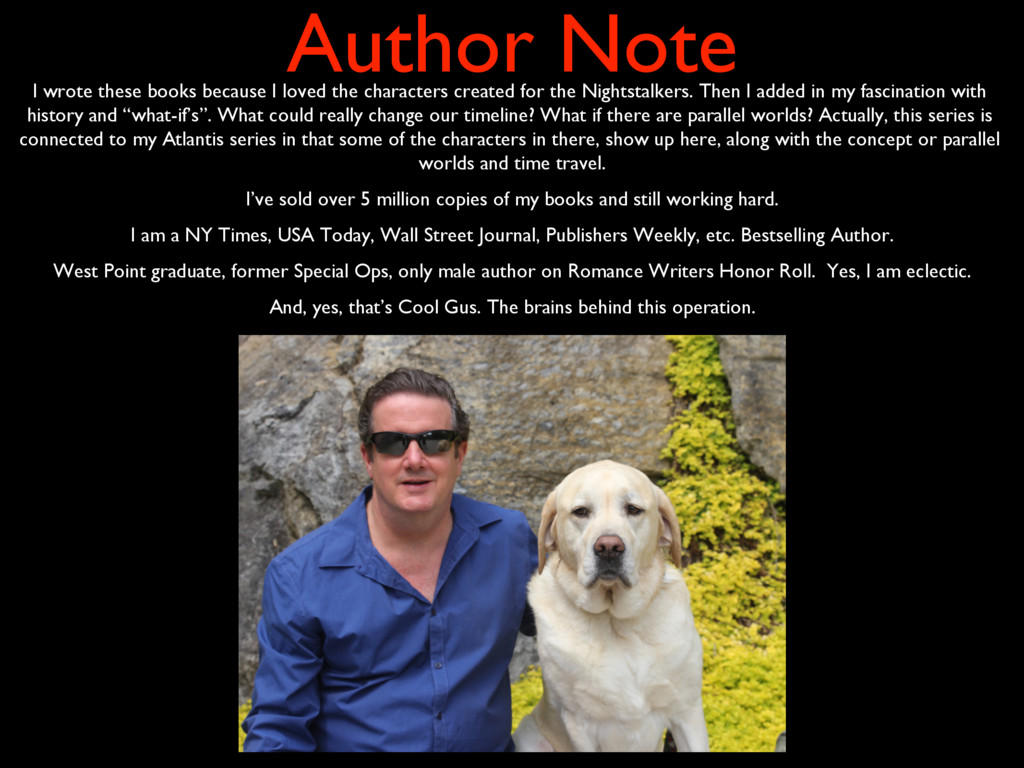 Author Note I wrote these books because I loved...